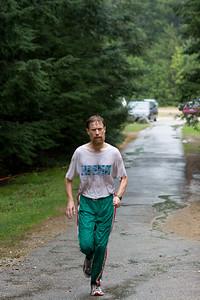 Running to the finish.