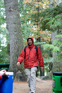 Bill returning from our campsite.