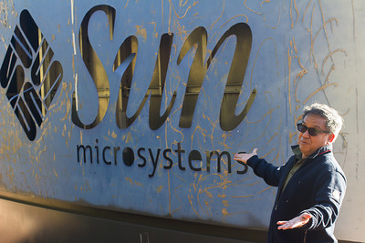 SUN which was eventually purchased by Oracle used to have their campus at the now FB HQ.  This sign is behind the FB logo where everyone was posing.