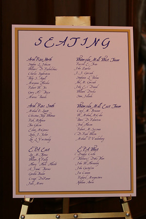 Seating Chart for dinner