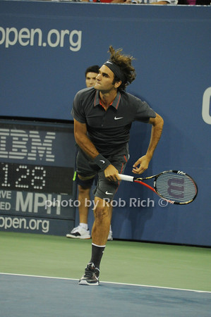 Roger Federer <br /> competes at the US OPEN Tennis Challenge 9-5-11.<br /> photo by Rob Rich/SocietyAllure.com © 2011 robwayne1@aol.com 516-676-3939