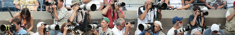 Photographer Row, Center Court, 2008 US Open.