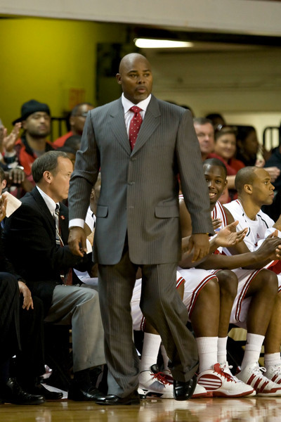 Dec 12, 2009; Raleigh, NC, USA; North Carolina State Wolfpack head coach Sidney Lowe during the second half against the Georgia Southern Eagles at Reynolds Coliseum.  The Wolfpack defeated the Eagles 75-57.  Mandatory Credit: Brian Utesch-US PRESSWIRE
