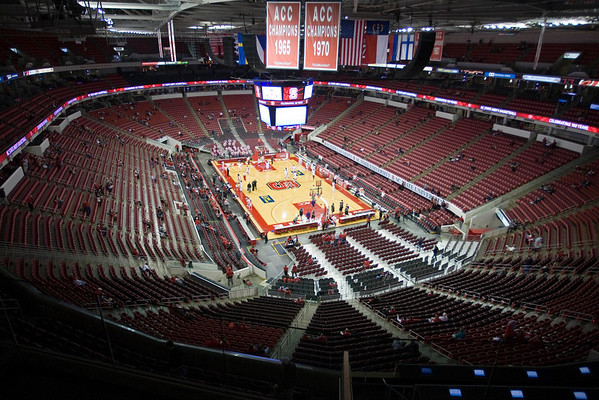 Jan 6, 2010; Raleigh, NC, USA; Fans arrive prior to the game between the North Carolina State Wolfpack and Holy Cross Crusaders at the RBC Center.  Mandatory Credit: Brian Utesch-US PRESSWIRE