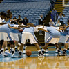 Dec 6, 2009; Chapel Hill, NC, USA; The North Carolina Tar Heels before the game against the St. John's Red Storm at the Dean Smith Center.  Mandatory Credit: Brian Utesch-US PRESSWIRE