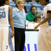 Dec 6, 2009; Chapel Hill, NC, USA; North Carolina Tar Heels head coach Sylvia Hatchell on the bench during the second half against the St. John's Red Storm at the Dean Smith Center.  The Tar Heels defeated the Red Storm 83-73.  Mandatory Credit: Brian Utesch-US PRESSWIRE