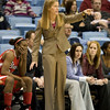 Dec 6, 2009; Chapel Hill, NC, USA; St. John's Red Storm head coach Kim Barnes Arico during the first half against the North Carolina Tar Heels at the Dean Smith Center.  Mandatory Credit: Brian Utesch-US PRESSWIRE