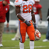Nov 14, 2009; Raleigh, NC, USA; Clemson Tigers running back C.J. Spiller (28) before the game against the North Carolina State Wolfpack  at Carter-Finley Stadium.  Mandatory Credit: Brian Utesch-US PRESSWIRE