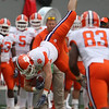 Nov 14, 2009; Raleigh, NC, USA; Clemson Tigers tight end Michael Palmer (86) make a reception during the first half against the North Carolina State Wolfpack at Carter-Finley Stadium.  The Tigers defeated the Wolfpack 43-23.  Mandatory Credit: Brian Utesch-US PRESSWIRE