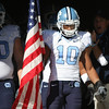 Nov 28, 2009; Raleigh, NC, USA; North Carolina Tar Heels safety Melvin Williams (10) prepares to lead the team onto the field prior to the game against the North Carolina State Wolfpack at Carter-Finley Stadium.  The Wolfpack defeated the Tar Heels 28-27.  Mandatory Credit: Brian Utesch-US PRESSWIRE