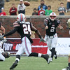 Dec 30, 2010; Dallas, TX, USA; SMU Mustangs quarterback Kyle Padron (2) throws a pass to wide receiver Aldrick Robinson (24)  during the first half of the 2010 Armed Forces Bowl at Gerald J. Ford Stadium.  The Black Knights defeated the Mustangs 16-14.  Mandatory Credit: Brian Utesch-US PRESSWIRE