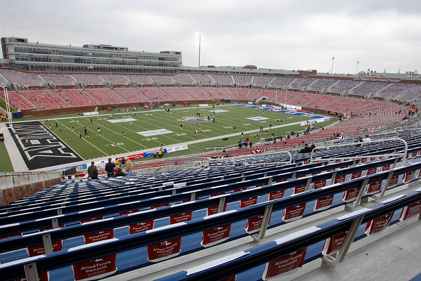 Dec 30, 2010; Dallas, TX, USA; A general stadium shot prior to the game between SMU and Army in the 2010 Armed Forces Bowl at Gerald J. Ford Stadium.  Mandatory Credit: Brian Utesch-US PRESSWIRE