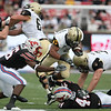 Dec 30, 2010; Dallas, TX, USA; Army Black Knights split back Patrick Mealy (5) runs the ball against the SMU Mustangs during the first half of the 2010 Armed Forces Bowl at Gerald J. Ford Stadium.  Mandatory Credit: Brian Utesch-US PRESSWIRE