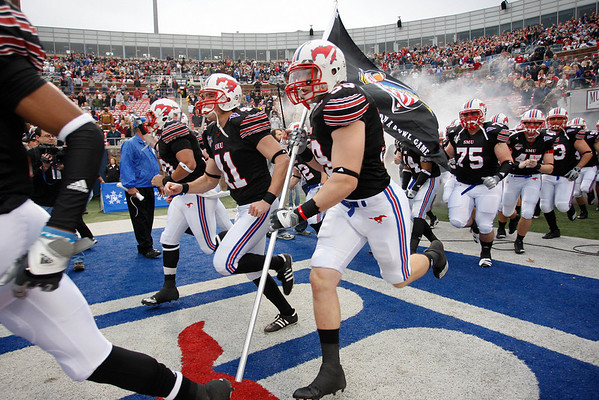 Dec 30, 2010; Dallas, TX, USA; SMU Mustangs enter the stadium prior to the game against the Army Black Knights in the 2010 Armed Forces Bowl at Gerald J. Ford Stadium.  The Black Knights defeated the Mustangs 16-14.  Mandatory Credit: Brian Utesch-US PRESSWIRE