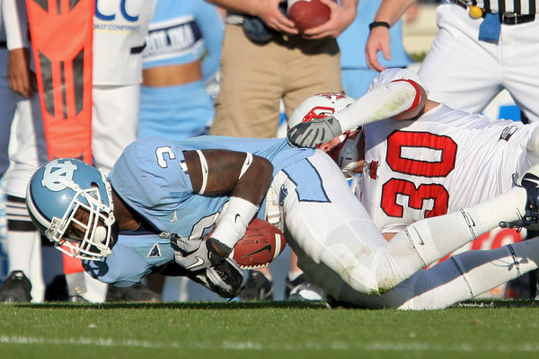 Nov 20, 2010; Chapel Hill, NC, USA; [CAPTION] during the second half at Kenan Stadium.  The Wolfpack defeated the Tar Heels 29-25.  Mandatory Credit: Brian Utesch-US PRESSWIRE