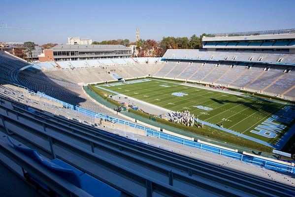 Nov 20, 2010; Chapel Hill, NC, USA; A general stadium shot prior to the game between the North Carolina State Wolfpack and North Carolina Tar Heels at Kenan Stadium.  Mandatory Credit: Brian Utesch-US PRESSWIRE