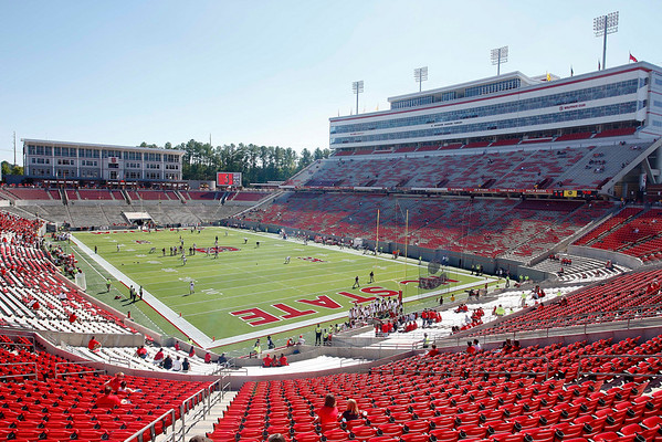 Oct 2, 2010; Raleigh, NC, USA; General stadium view prior to the game between the North Carolina State Wolfpack and Virginia Tech Hokies at Carter-Finley Stadium.  Mandatory Credit: Brian Utesch-US PRESSWIRE