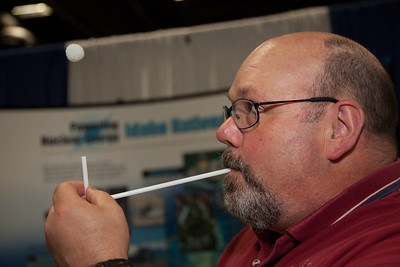 Don Miley demonstrates Bernoulli's principle with a common drinking straw. In fluid dynamics, Bernoulli's principle states that for an inviscid flow, an increase in the speed of the fluid occurs simultaneously with a decrease in pressure or a decrease in the fluid's potential energy.