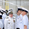 Record-Eagle/Jan-Michael Stump<br /> Cmdr Joseph Buzzella, Jr. and Cmdr Jonathan Spaner inspect the troops as part of U.S. Coast Guard Air Station Traverse City's Change of Command ceremony Friday.