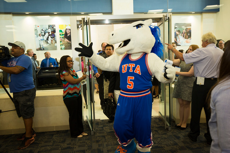 The University of Texas at Arlington Career Center ribbon cutting on the campus of UTA in Arlington, Texas on August  23, 2016. (Photo by/Sharon Ellman)