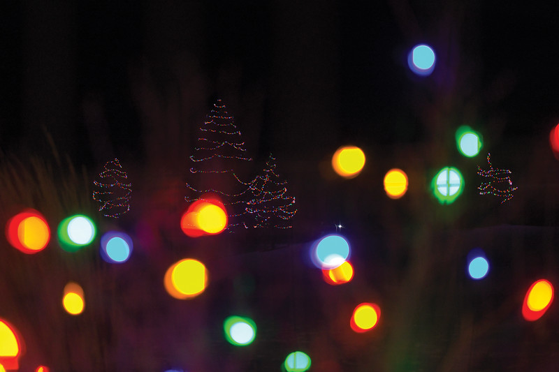 Matthew Gaston | The Sheridan Press<br>Christmas lights illimunate the grounds for the seventh annual Ucross Community Christmas Saturday, Dec. 14, 2019.