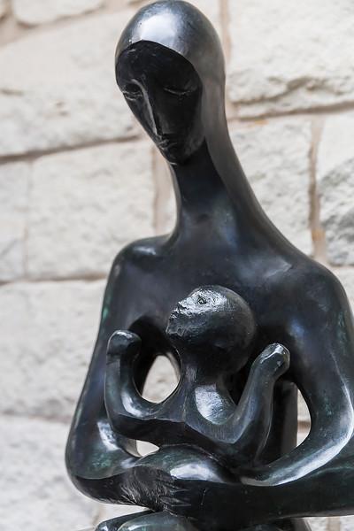 Madonna & Child 1967 bronze