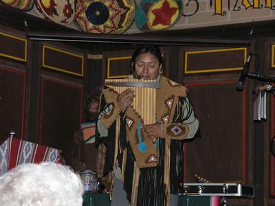 Andean flute player in the Bazaar del Mundo.