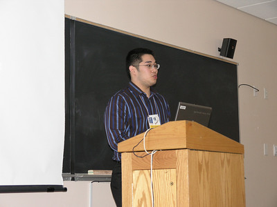 Jussle Del Rosario making his presentation.