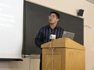 Jussle Del Rosario making his presentation.