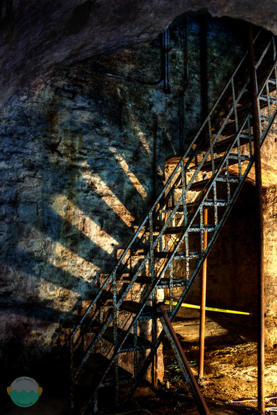 Jackson Brewery Stairs<br /> The stairs that lead to up above the Jackson Breery Lagering Tunnels.