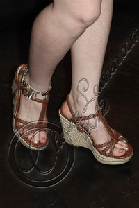 WEST HOLLYWOOD, CA - APRIL 21:  Actress Houston Coleman (shoe detail) arrives at the Uneeqability LIVE! concert at The Roxy Theatre on April 21, 2012 in West Hollywood, California.  (Photo by Chelsea Lauren/WireImage)