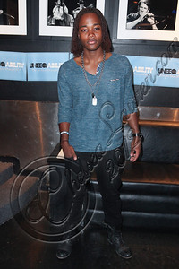 WEST HOLLYWOOD, CA - APRIL 21:  Actor / singer Leon Thomas III arrives at the Uneeqability LIVE! concert at The Roxy Theatre on April 21, 2012 in West Hollywood, California.  (Photo by Chelsea Lauren/WireImage)