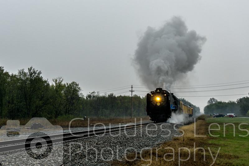 Steaming through rain