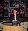 Convention facilitator Dr. Jim West at the podium.