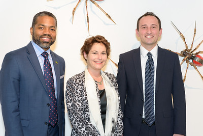 Franz Hall (Consul General of Jamaica), Dana Klein (Honorary Consul of Macedonia), Ahmet Yildiz (Vice Consul of Turkey)