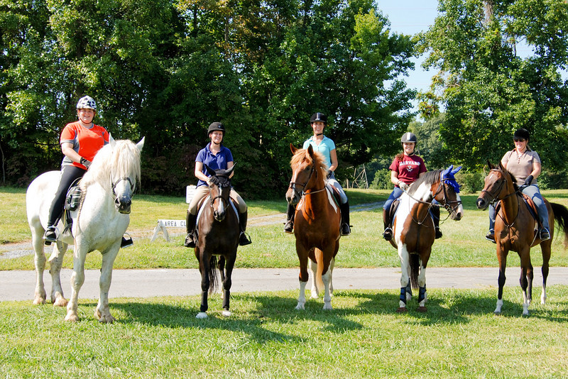 Trail rides and picnics in locations like Oakridge Park, Kings Landing, Rosaryville, Maxwell Hall, St. Mary's River State Park, and Greenwell.