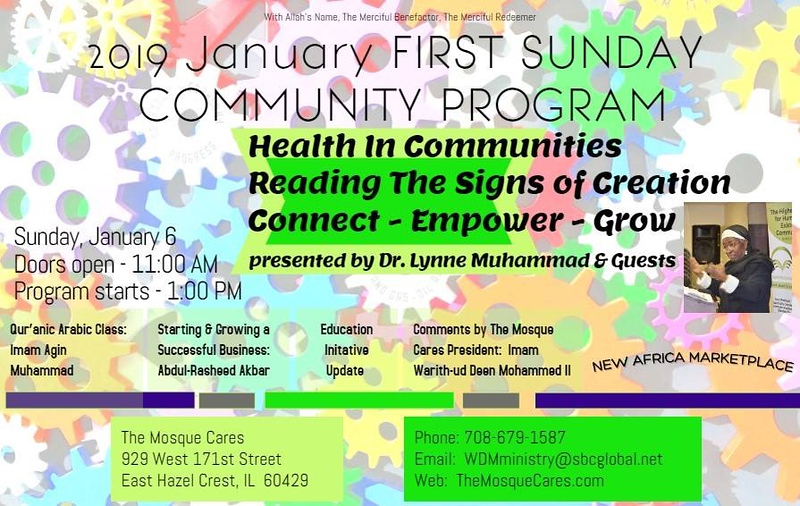 The Mosque Cares First Sunday Community Program