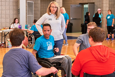 Midvale, UT - October 18, 2019: Utah Adaptive Alliance Meet and Greet, Wheelchair Basketball (Photo by Dave Obzansky)