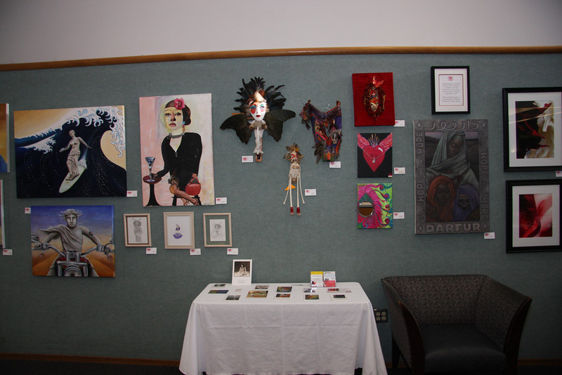 Lots of local artist work on display.