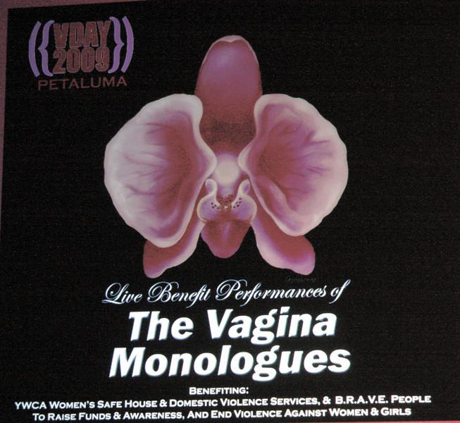 Petaluma's Vagina Monologues Performance March 13th and 14th 2009