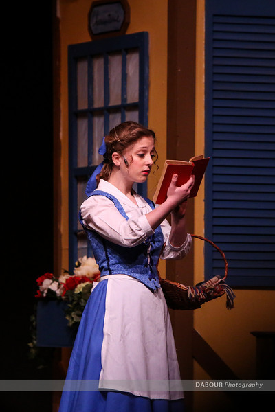"""Photos of VHS Theatre production of """"Beauty and the Beast"""" photos by Dave Dabour"""