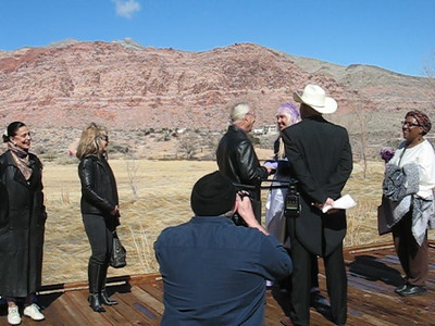 Videos of BB Berg and Keith Hicks wedding ceremony and reception on Valentines Day 2009 in Red Rock Park and Las Vegas at their home.
