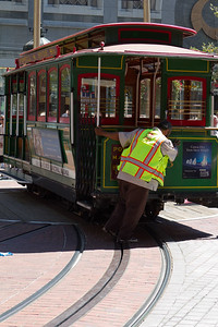 San Francisco cable car turn around point