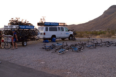 Our Bike tour gets set up