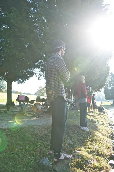 Virginia Ultra Iron Triathlon: Watching the Swim
