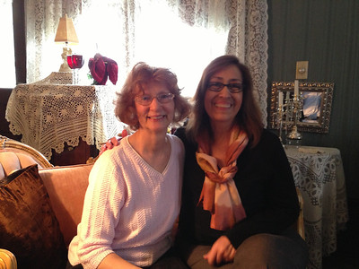 Leslie (owner of Avery Bed and Breakfast Inn) and Erika.