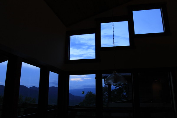 Looking out of Nayrapacha windows at dusk...what a view!