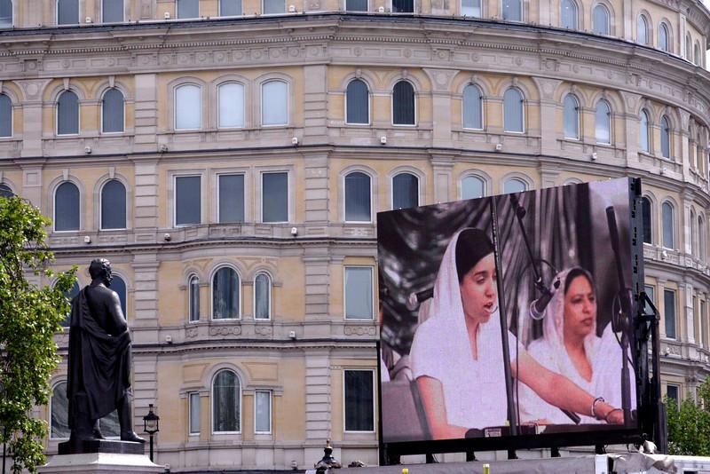 Giant VDU screen at Vaisakhi Sikh New Year Festival London 2009