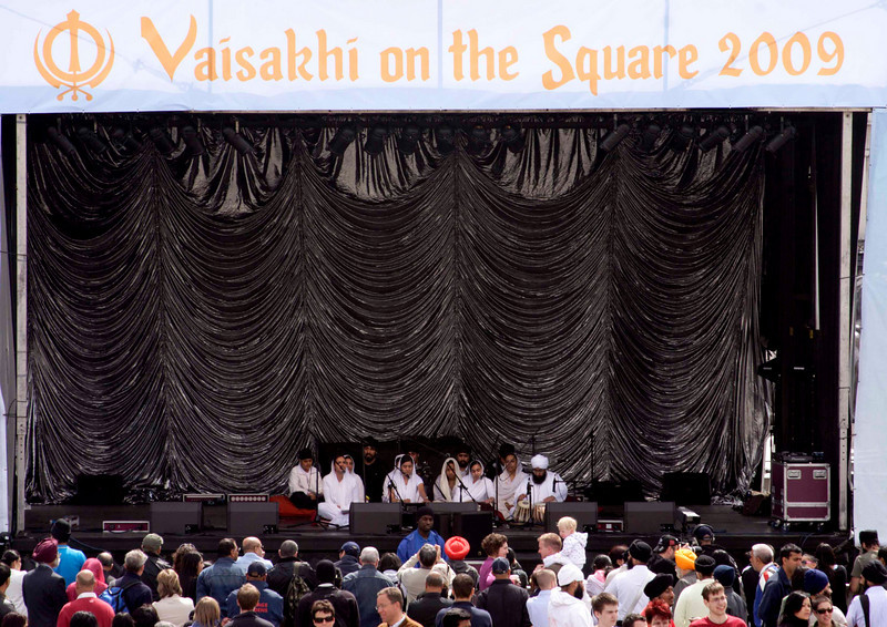 Live stage at Vaisakhi Sikh New Year Festival London 2009