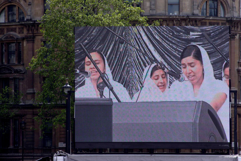 Giant VDU screen at Vaisakhi Sikh New Year Festival London 2009